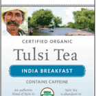 India Breakfast Tulsi Tea from Organic India