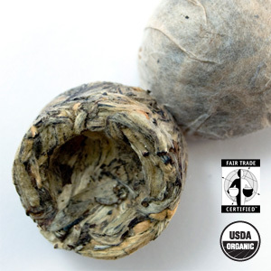 Organic Ancient Green Pu-Erh Tuo Cha from Arbor Teas