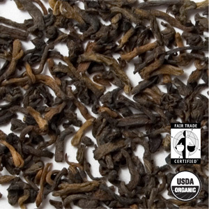 Organic Ancient Pu-Erh Palace Tea from Arbor Teas
