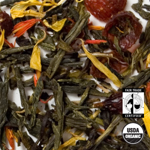 Organic Cherry Sencha Green Tea from Arbor Teas