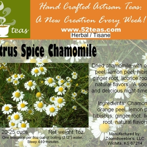 Citrus Spice Chamomile from 52teas