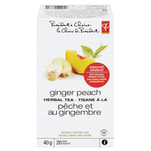 Ginger Peach Herbal Tea from President's Choice