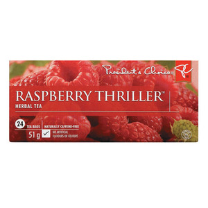 Raspberry Thriller Herbal Tea from President's Choice