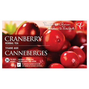 Cranberry Herbal Tea from President's Choice