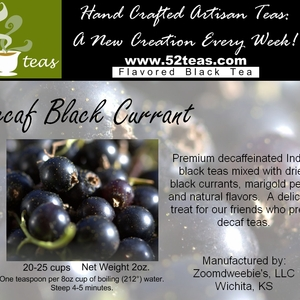 Decaf Black Currant Black Tea from 52teas