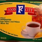 Decaf Orange Pekoe &amp; pekoe cut black tea from Food City 
