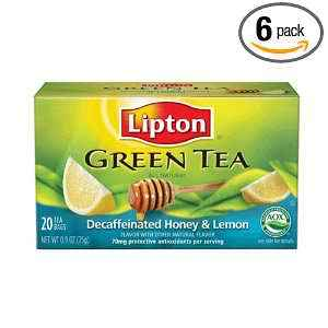 Decaffeinated Honey Lemon green from Lipton