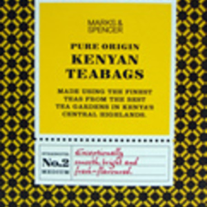 Fairtrade pure origin Kenyan teabags from Marks & Spencer Tea