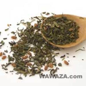 Genmaicha Organic Green Tea with Brown Rice- Kamairicha from Wawaza.com