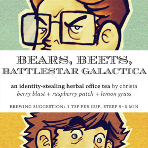 Bears, Beets, Battlestar Galactica from Adagio Teas