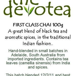 First Class Chai from The Devotea