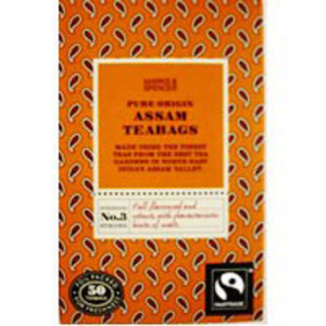 Fairtrade pure origin Assam teabags from Marks & Spencer Tea