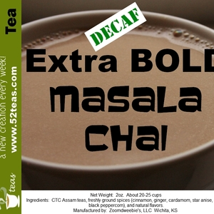 Decaf Extra BOLD Masala Chai from 52teas