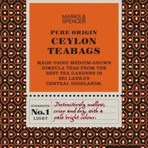 Fairtrade pure origin Ceylon teabags from Marks & Spencer Tea