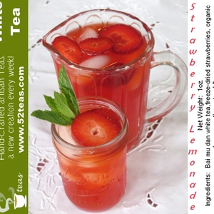 Strawberry Lemonade Bai Mu Dan from 52teas