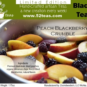 Peach Blackberry Crumble from 52teas