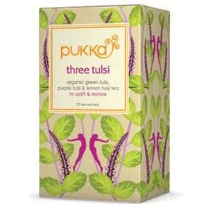 Three tulsi from Pukka