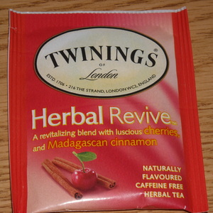 Herbal Revive: Cherries and Madagascan Cinnamon from Twinings