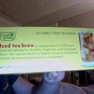 Iced tea brew from Fresh &amp; Easy