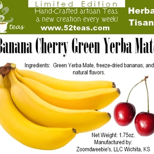 Banana Cherry Green Yerba Mate from 52teas