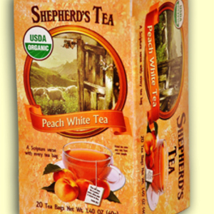 Peach White Tea from Shepherd's Tea (AKA The Shepher'd Garden)