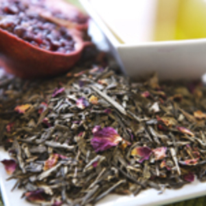 Pomegranate Sencha Green Tea from Peter Asher Coffee and Tea