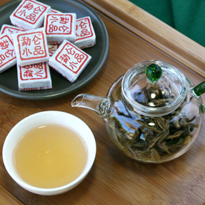 2009 Jin Mai Green Puer Tea Mini Tuocha 8g from Pure Puer Tea