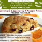 Buttered Cranberry Orange Scone Honeybush from 52teas