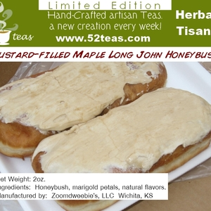 Custard-Filled Maple Long John Honeybush from 52teas