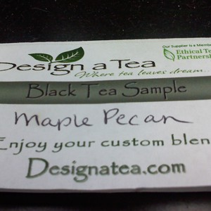 Maple Pecan Black Tea from Design a Tea