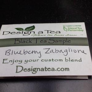 Blueberry Zabaglione Black Tea from Design a Tea