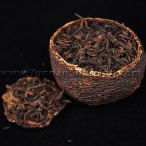 "Gong Ting Pu-erh in Tangerine ""Golden Horse 8685"" Ripe Tea from Yunnan Sourcing"