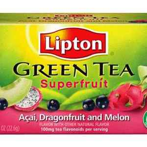 Superfruit green tea acai dragonfruit & melon from Lipton