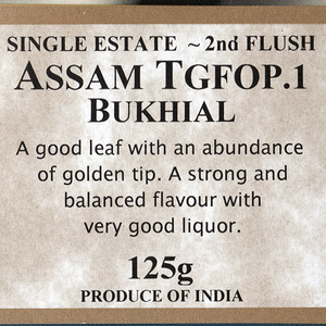 Assam Bukhial TGFOP 2nd Flush from The Drury Tea &amp; Coffee Co. Ltd.