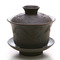 DeRen Dark Clay Dragon Gaiwan and cups from Teaware