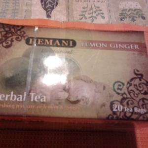 Lemon Ginger Herbal Tea from Hemani