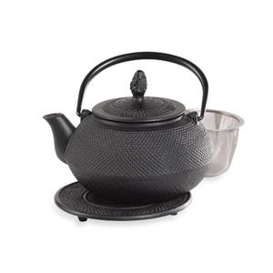 Infuse 16-Ounce Asian Cast Iron Tea Pot with Trivet from Teaware