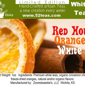 Red Hot Orange White from 52teas