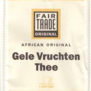 Gele Vruchten Thee [Yellow Fruit Tea] from Fair Trade Original