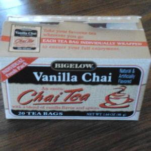Vanilla Chai Tea from Bigelow