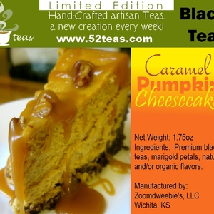 Caramel Pumpkin Cheesecake from 52teas