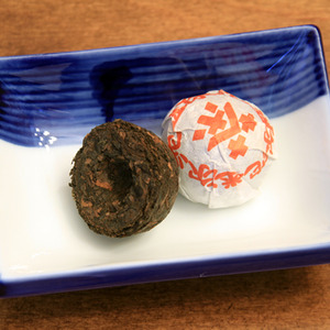 Imperial Shou Puerh Toucha from Whispering Pines Tea Company