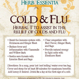 Cold & Flu Tea from Herb Essentia