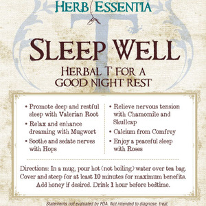 Sleep Well Tea from Herb Essentia