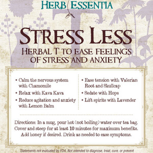 Stress Less Tea from Herb Essentia