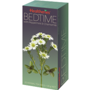 Bedtime with peppermint and chamomile from Healtheries
