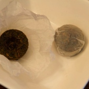 Mossy Cave Pu-erh Cups from Whispering Pines Tea Company