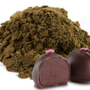 Raspberry Truffle Matcha (Black Matcha Base) from Red Leaf Tea