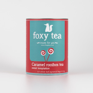 Caramel rooibos tea from Foxy tea