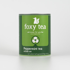 Peppermint tea from Foxy tea